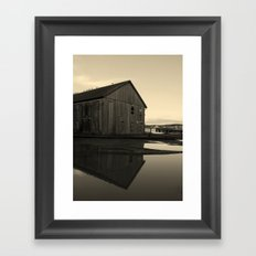 Warehouse Reflection in Yellow Framed Art Print