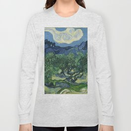 Olive Trees by Vincent van Gogh Long Sleeve T-shirt