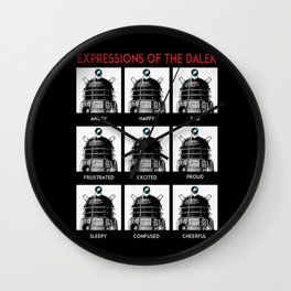 Expressions Of The Dalek Wall Clock