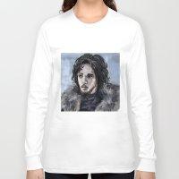 jon snow Long Sleeve T-shirts featuring Jon Snow by amberandtigers