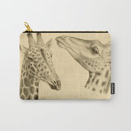 Vintage Illustration of a Giraffe (1908) Carry-All Pouch
