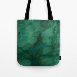 Hunter Green Marble Tote Bag