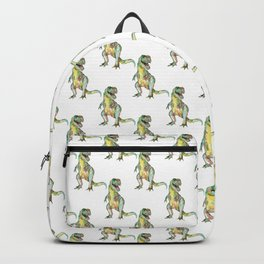 T-rex dinosaur painting watercolour  Backpack