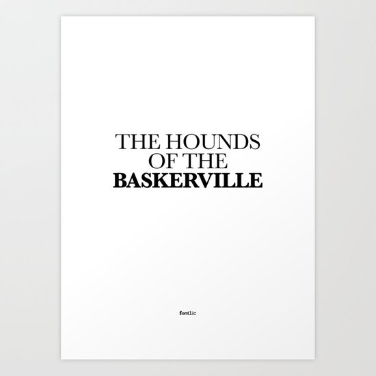 THE HOUNDS OF THE BASKERVILLE Art Print