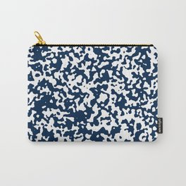 Small Spots - White and Oxford Blue Carry-All Pouch
