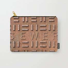 Sewer Grate Close-up Carry-All Pouch