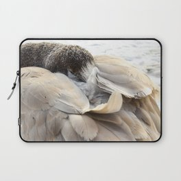 Young Trumpeter Swan by Teresa Thompson Laptop Sleeve