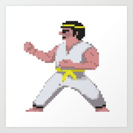8-Bit International Karate Art Print