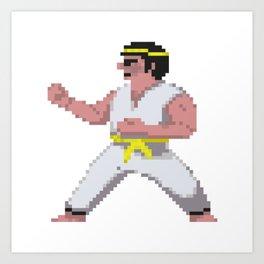 8-Bit International Karate Art Print