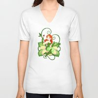 poison ivy V-neck T-shirts featuring Poison Ivy  by Katie Simpson a.k.a. Redhead-K