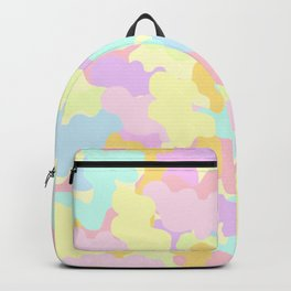Pretty Pastel Rainbow Colors Camo. Backpack