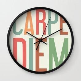 Carpe diem office motivation Wall Clock