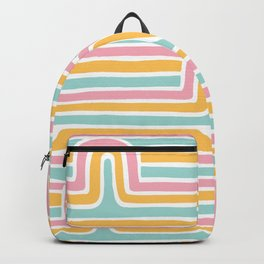 Rainbow Stripe Arches Backpack