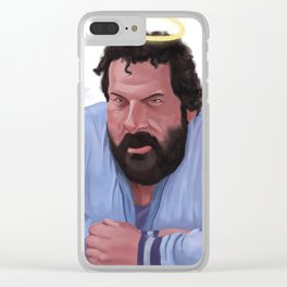 Bud Spencer - All You Need Is His Two Fists For A Hallelujah Clear iPhone Case