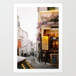 Street in Montmartre, Paris Art Print