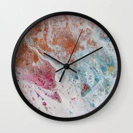 WHITE WASH | Fluid abstract art by Natalie Burnett Art Wall Clock