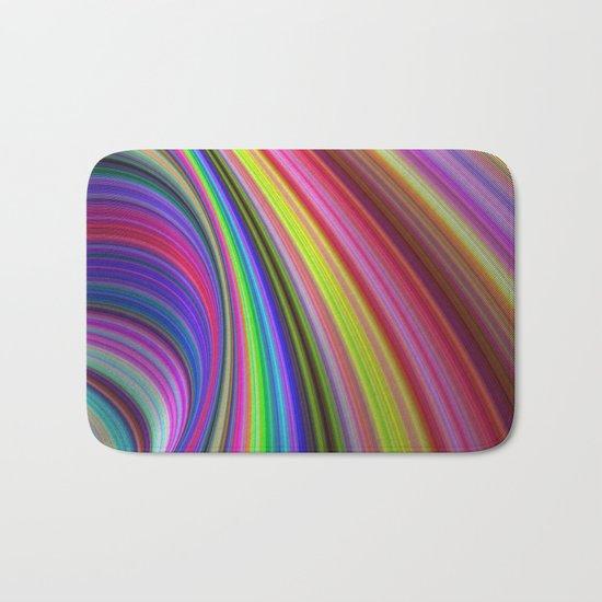 Rainbow vortex Bath Mat