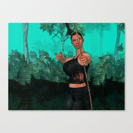 Survivor about to shot someone Canvas Print