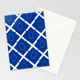 Mix of flag: UE and scotland Stationery Cards
