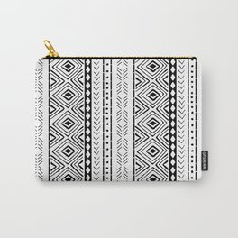 White Mudcloth Carry-All Pouch