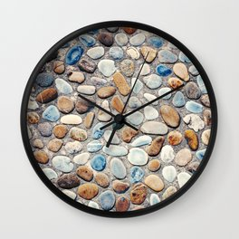 Pebble Rock Flooring V Wall Clock