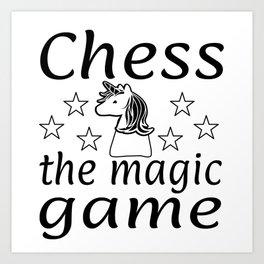 Chess The Magic Game Unicorn Gift Art Print