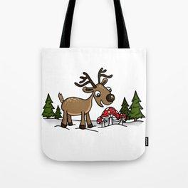 Reindeer Munches Magic Mushrooms Tote Bag