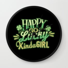 Lucky Girl St. Patrick's Day Wall Clock