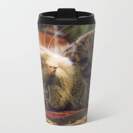 Catnip Cat Metal Travel Mug
