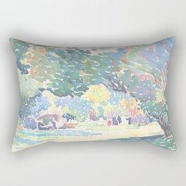 Landscape by Henri-Edmond Cross 1904, French Rectangular Pillow