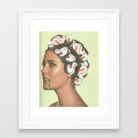 sushi Framed Art Prints featuring Sushi  by sophiemoatesdesign