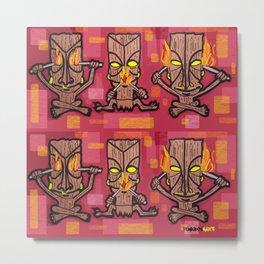 TIKI GODS MULTI Metal Print