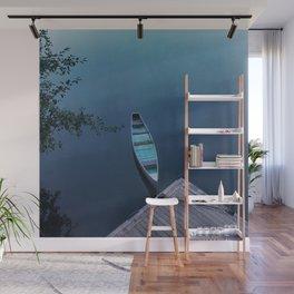 Blue Canoe Wall Mural