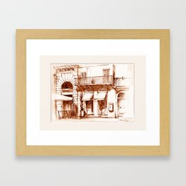 Boutiques in Piazza Navona Framed Art Print