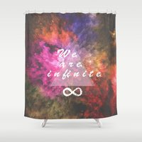 bioshock infinite Shower Curtains featuring Infinite by MJ Mor