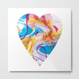 RGB Displacement Heart #1 Metal Print
