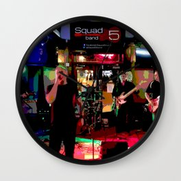 A night with Squad5 Wall Clock