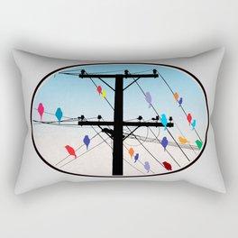 birds blue Rectangular Pillow
