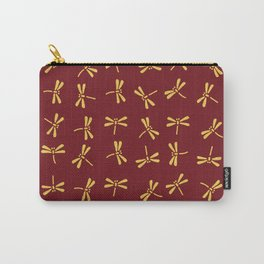 Japanese Dragonflies - Crimson and Gold Carry-All Pouch