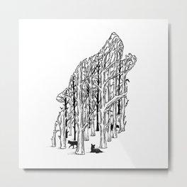 HIDDEN ANIMALS II Metal Print