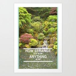 Aeroplane, How Strange Art Print
