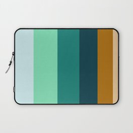 Teal Turquoise and Suede Geometric Pattern Laptop Sleeve