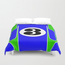 917 Hippie Racing Design Duvet Cover