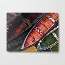 Colorful Amazon Fishing Boats Metal Print