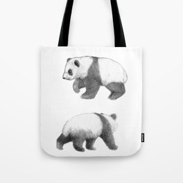 Walking Panda sketch SK062 Tote Bag