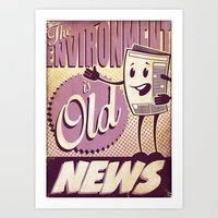 Old News Art Print