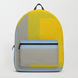 Block Colors - Yellow Green Grey Blue Backpack