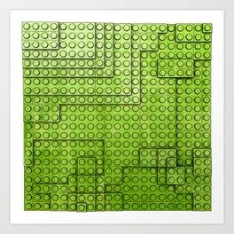 Topography - Bricks Art Print