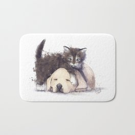 Kitten and Puppy Bath Mat
