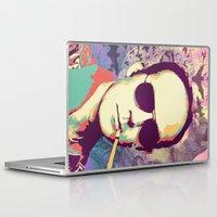 hunter s thompson Laptop & iPad Skins featuring Hunter S. Thompson by victorygarlic